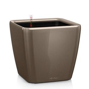Кашпо Lechuza Quadro LS Серо-коричневый с автополивом